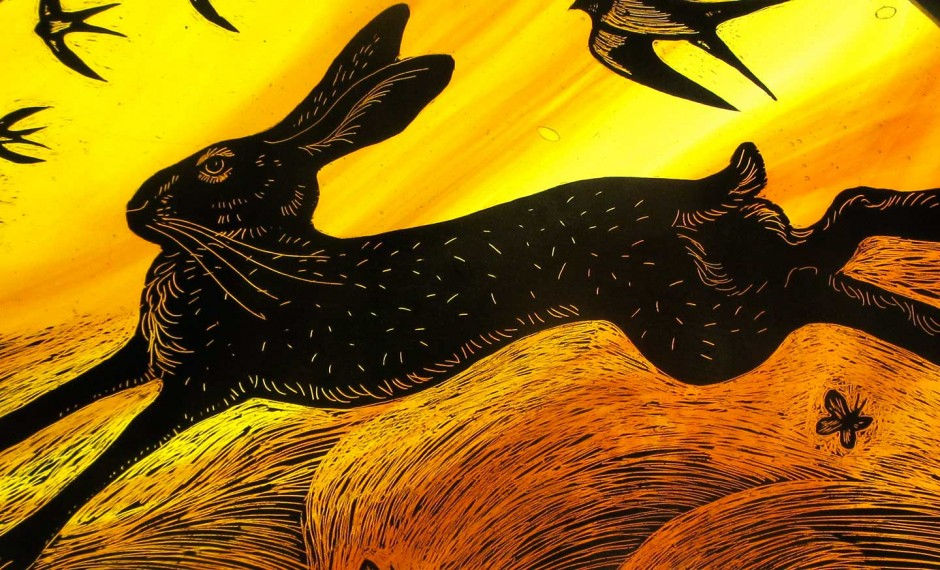 The Hare Stained Glass