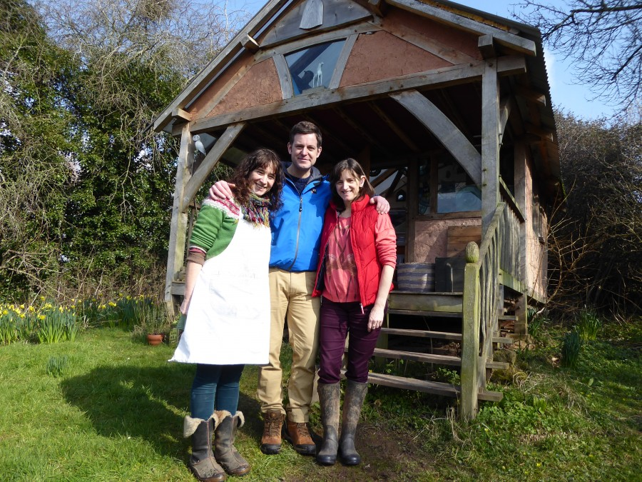 My sister and me with Matt Baker the presenter for Country File